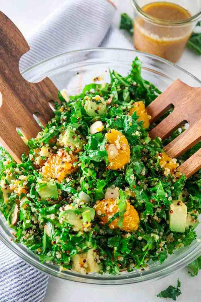Mandarin Avocado Kale & Quinoa Salad