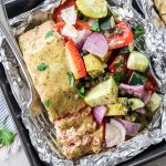 Dijon Tarragon Salmon and Veggie Foil Packs
