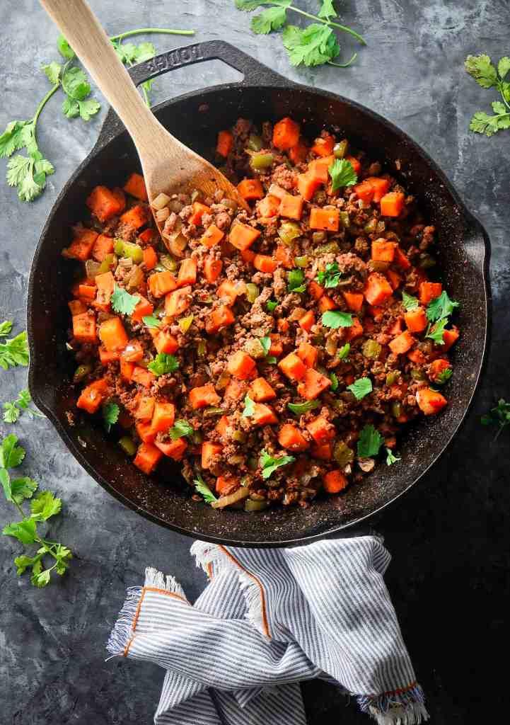 Ground Beef Sweet Potato Hash