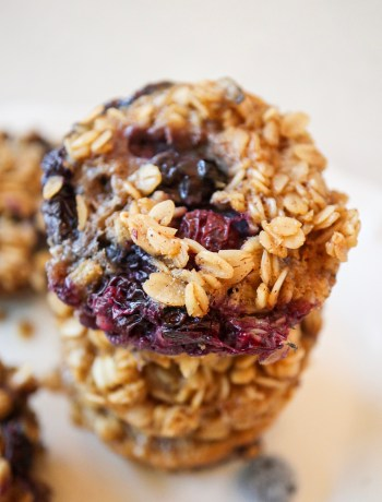 Blueberry Baked Oatmeal Bites