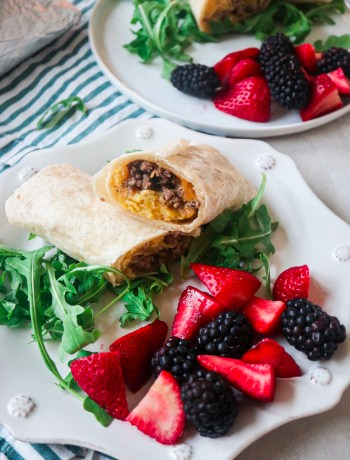Green Chile Beef Breakfast Burritos