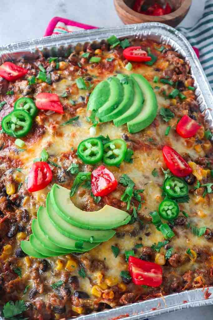 Mexican Beef Casserole (freezer friendly!)