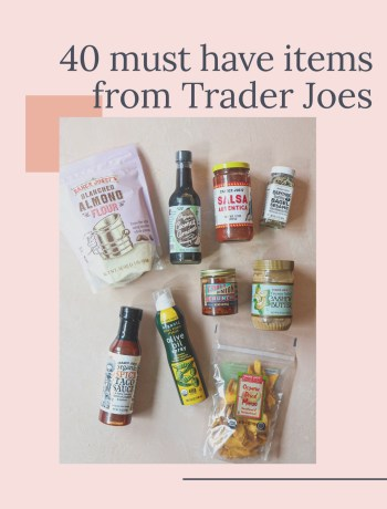 40 must have items from Trader Joe's