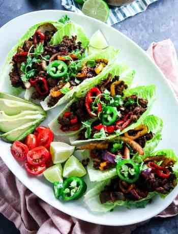 Ground Beef Fajita Lettuce Cups