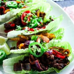 Ground Beef Fajita Lettuce Cups