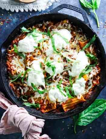5 Ingredient Easy Skillet Lasagna