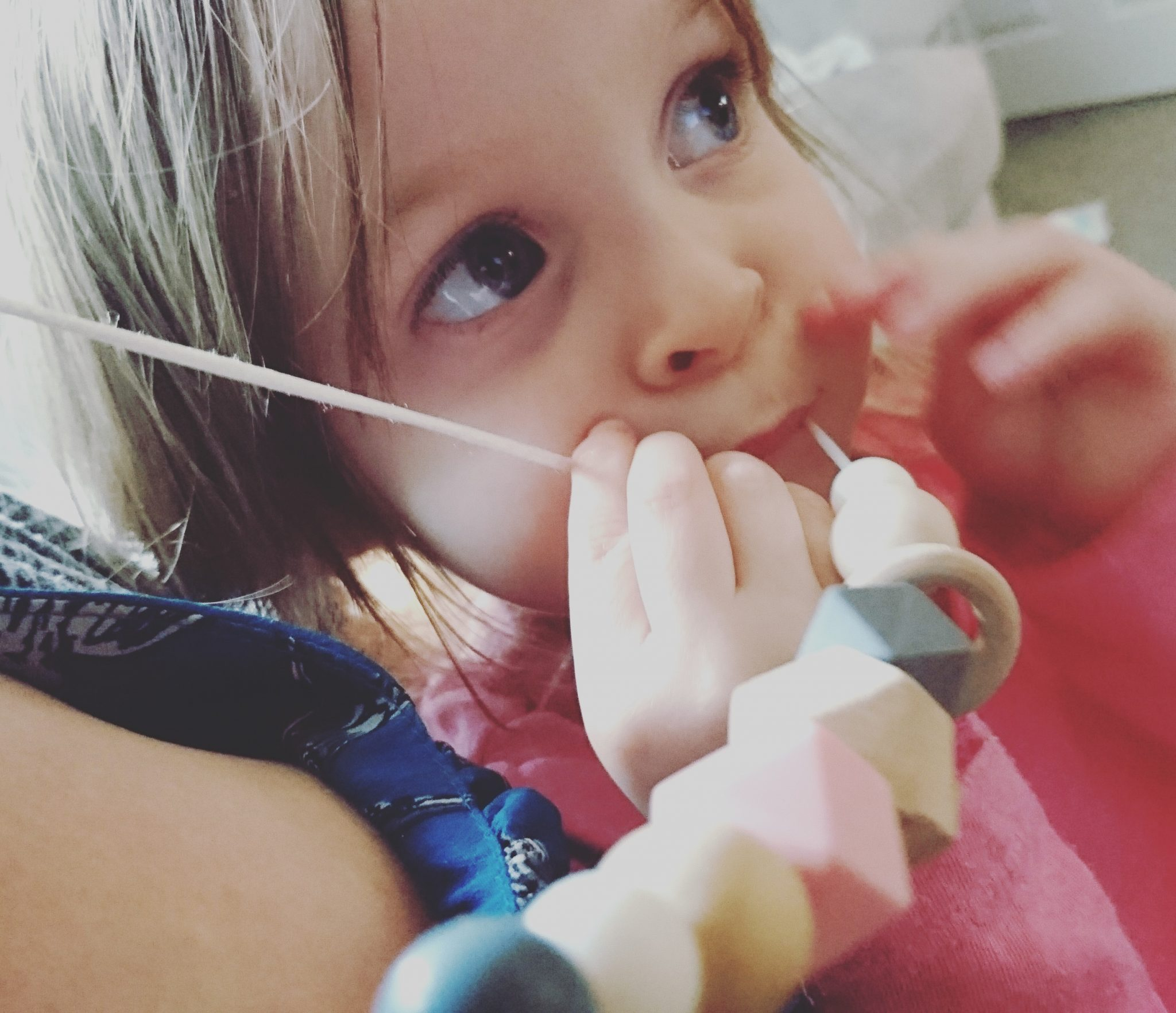 teething necklace - even the toddler enjoys it
