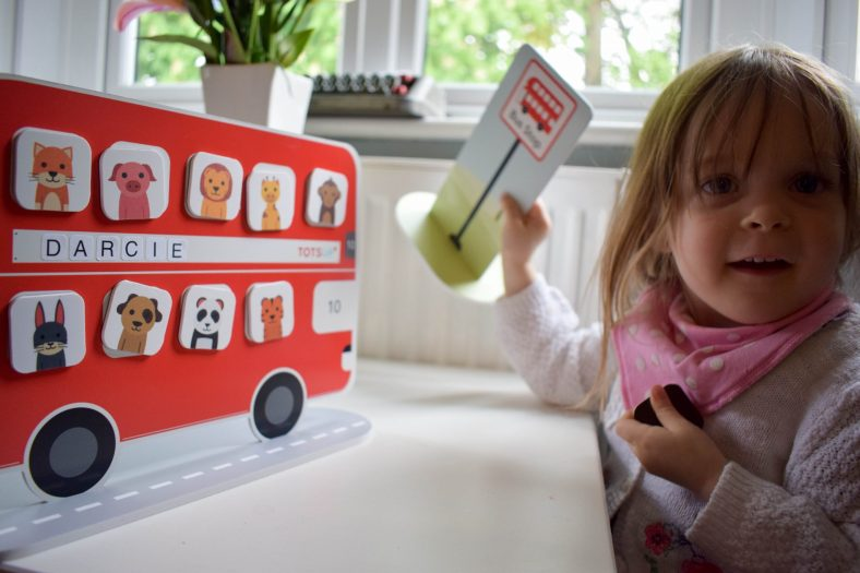 Look mummy, I did it! Playing with the Totsup Red Bus Reward Chart