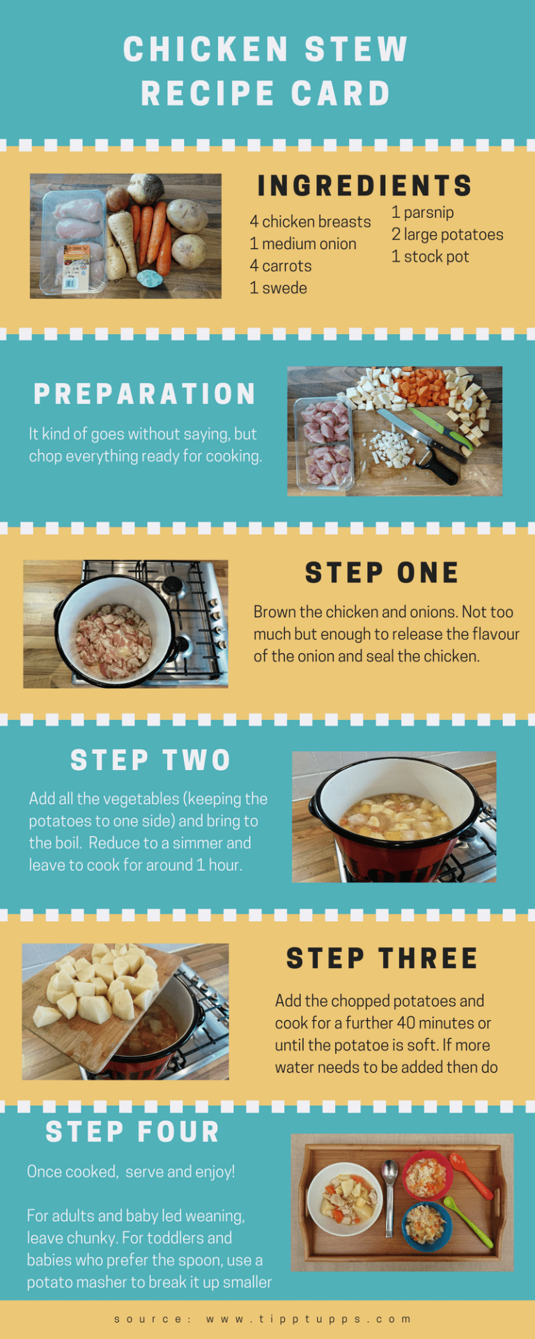 Chicken Stew - recipe card