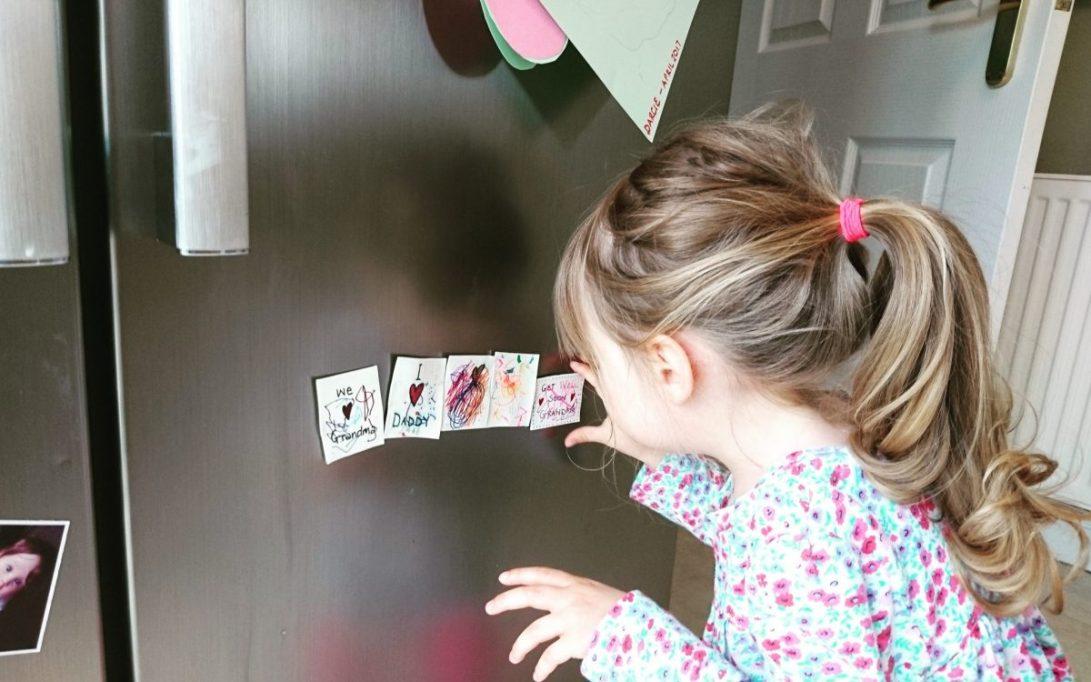 fridge magnets - admiring her work