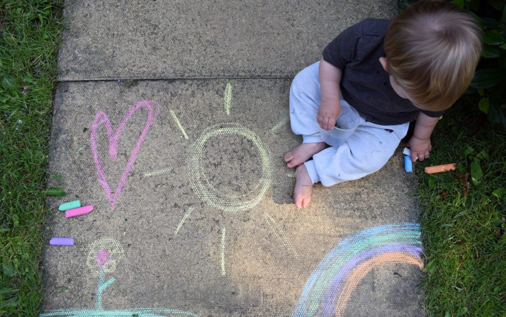Back Garden Adventures - pavement art
