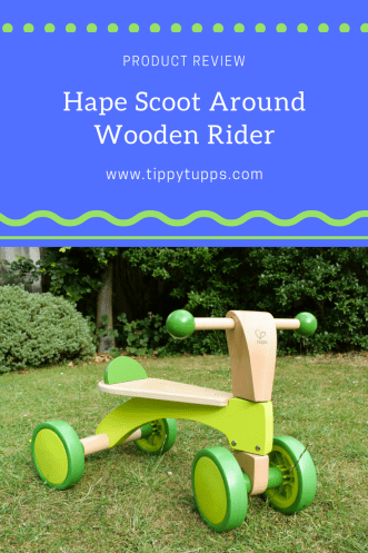 Product Review - Hape Scoot Around Wooden Rider - wooden toy - childrens toy