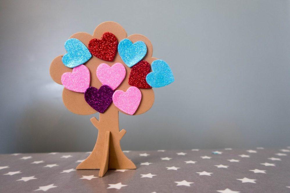 Handmade Mothers Day - love heart tree