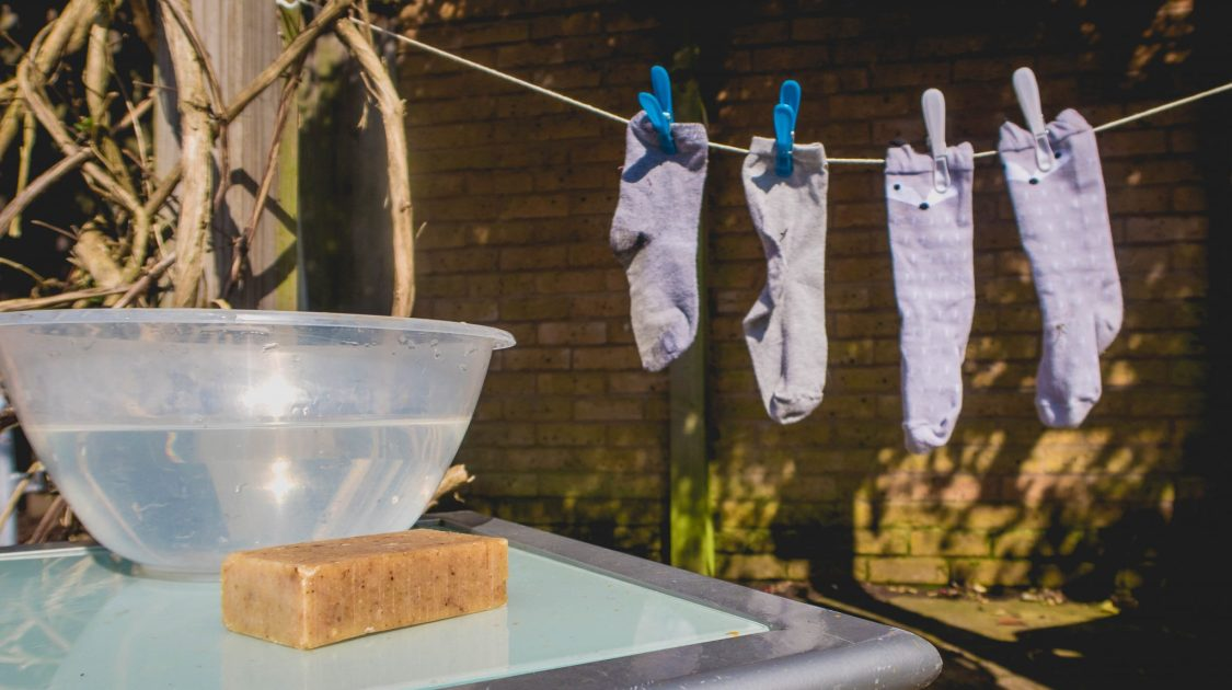 toddler washing line - childrens crafts - development play - washing station