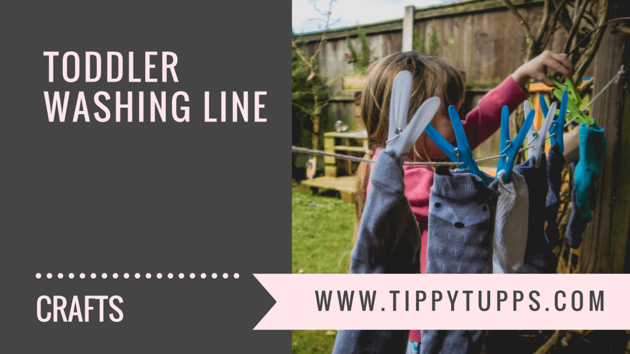 toddler washing line - childrens crafts - development play - blog header image