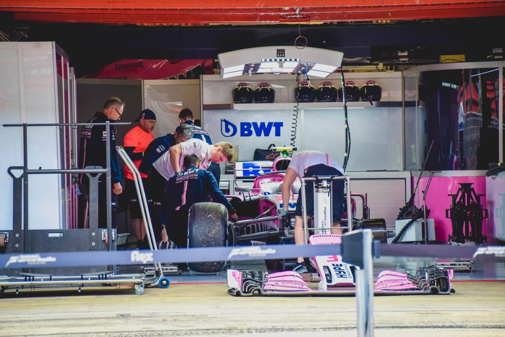 F1 Fun at the Spanish Grand Prix - work in the pits