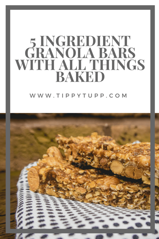 Healthy 5 ingredient granola bars, no baked for easy making. A wonderful healthy and simple breakfast option.