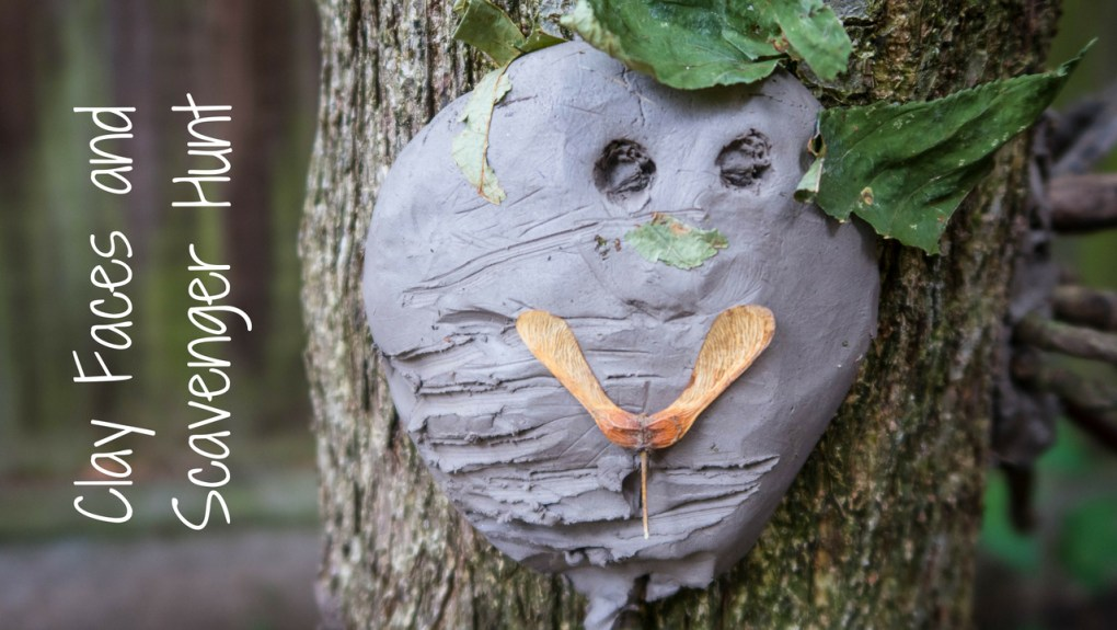 Clay Face and Scavenger Hunt - blog post header