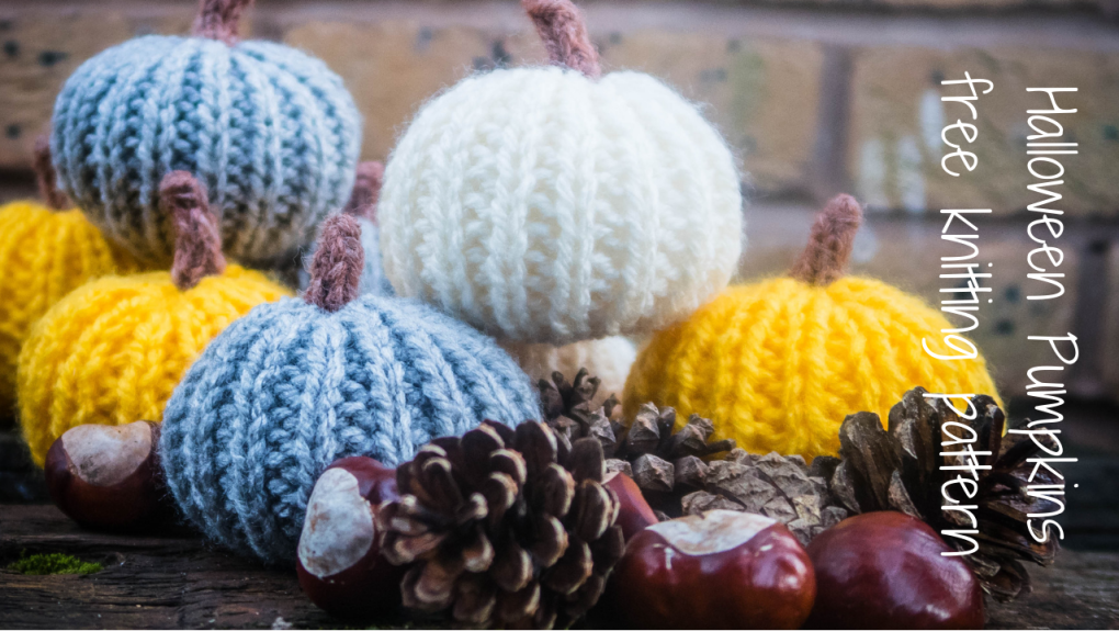 Knitted Halloween Pumpkin - blog post header