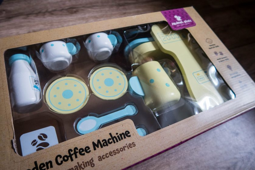 A Morning Coffee with the Squirrel Play Wooden Coffee Machine