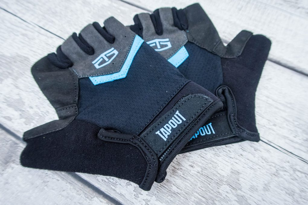 Getting Fit with TapouT - weightlifting gloves