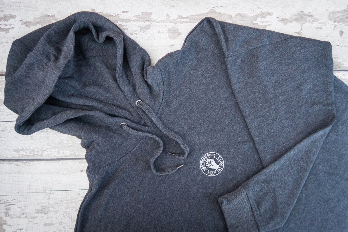 Northern Soul with 45Revs -hoodie flat lay