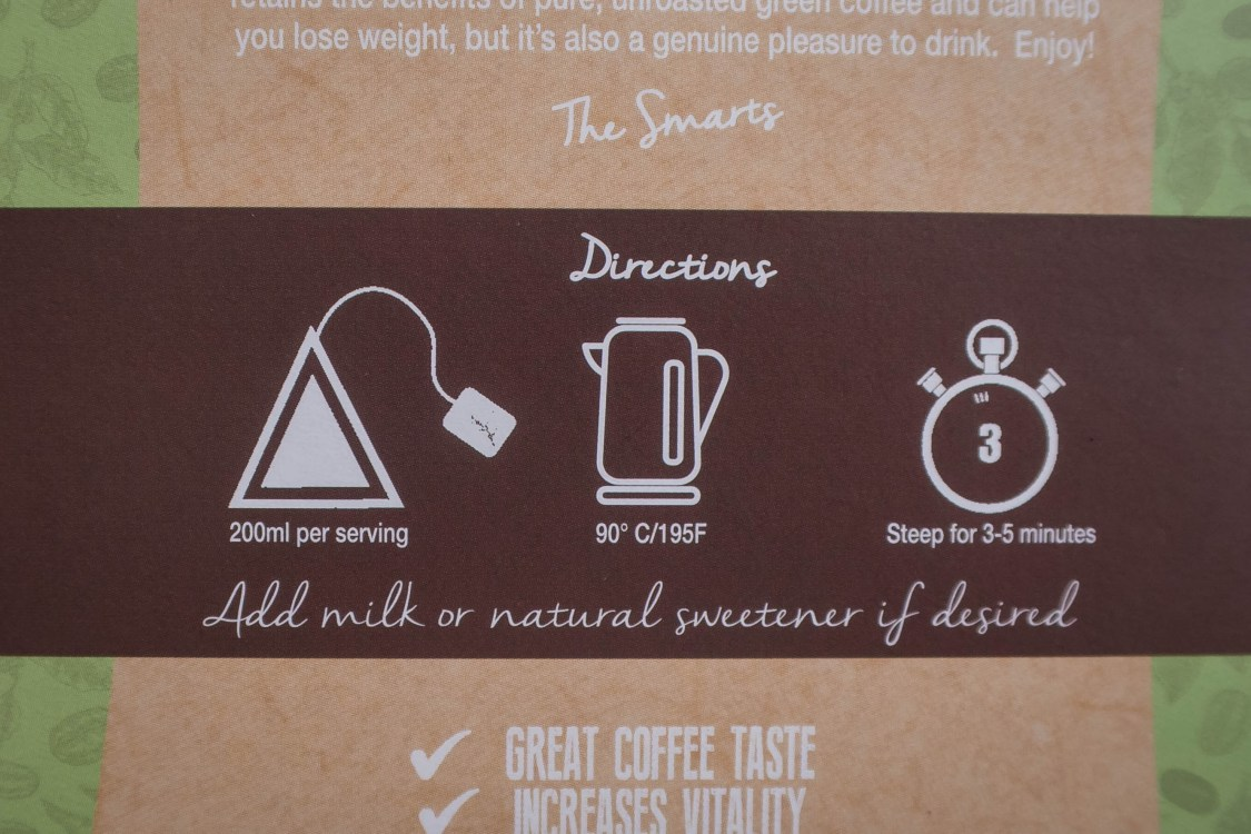 Pure Green Coffee directions for use