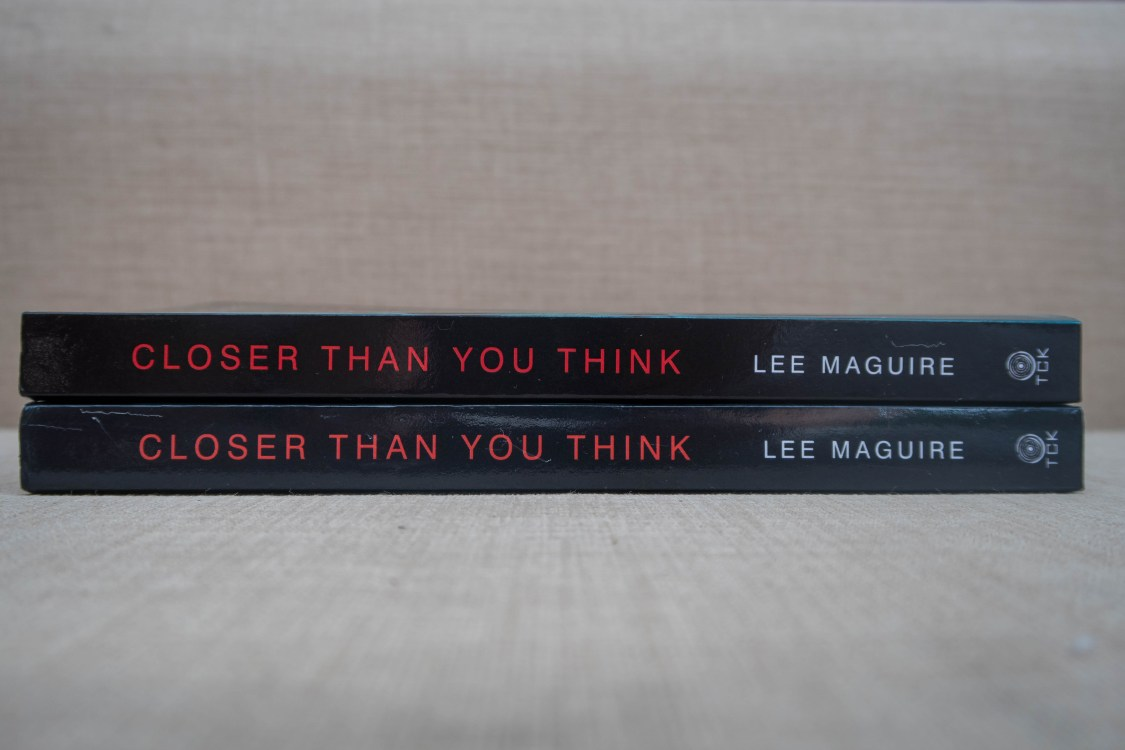 closer than you think - two copies to giveaway