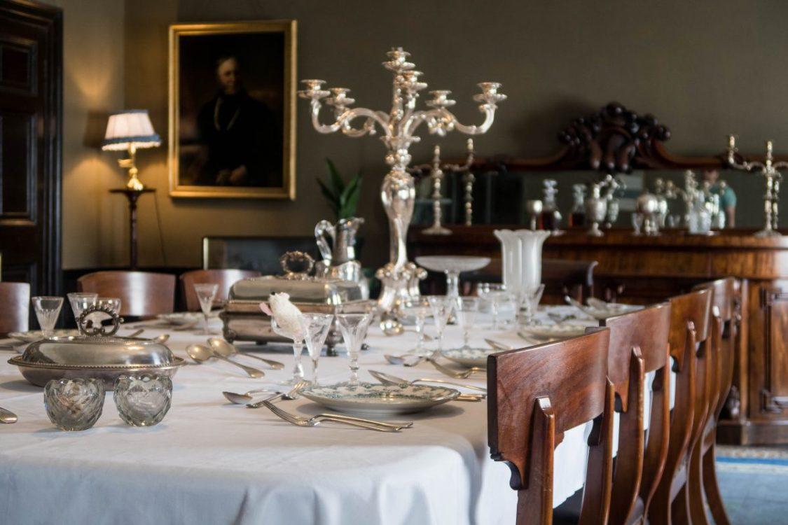 the dining room at Llanerchaeron