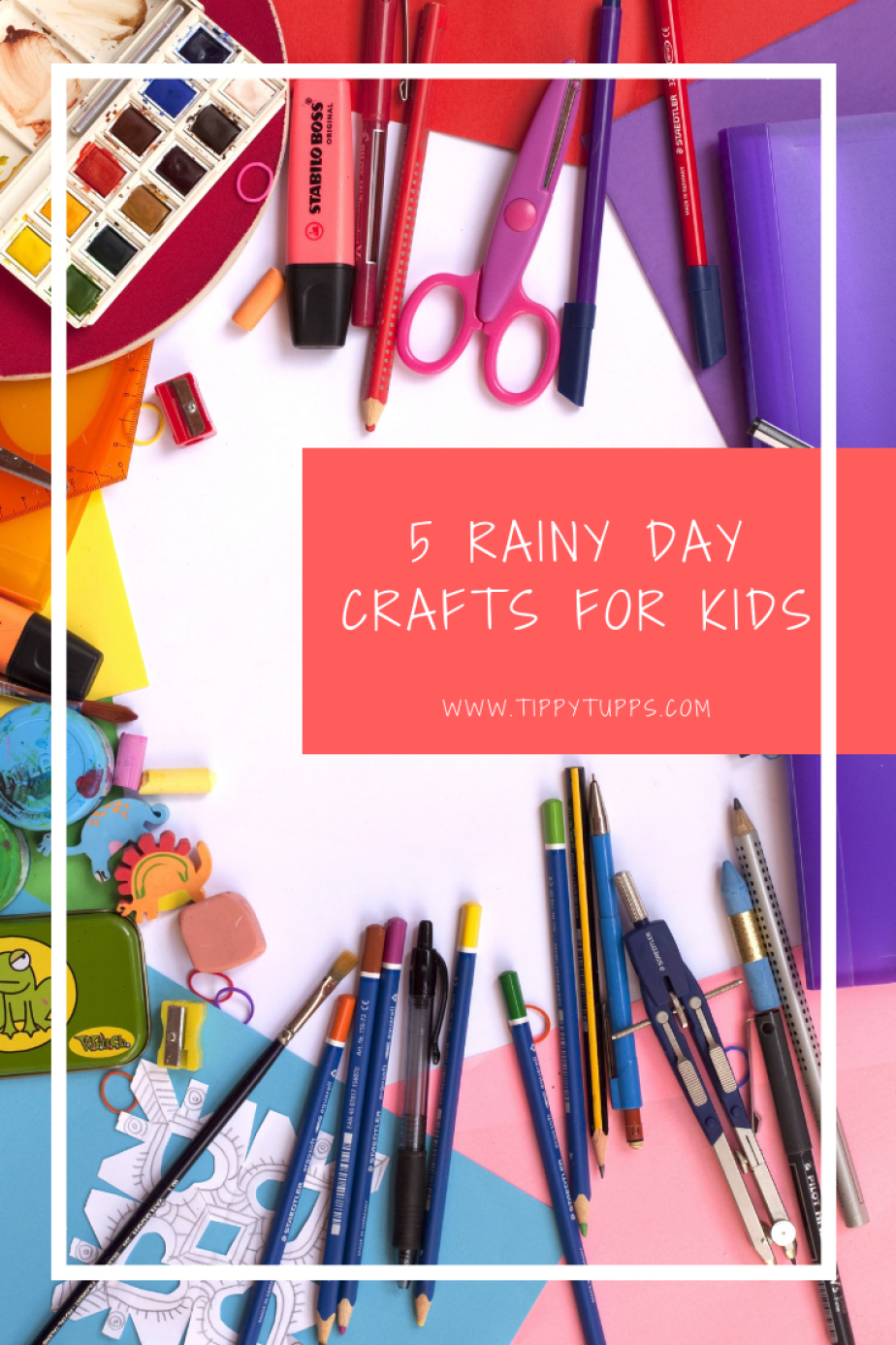 AD | collaboration - as we all know, children can become a challenge on a rainy day. So, to keep everyone entertrained, here are 5 rainy day crafts for kids that they'll love.