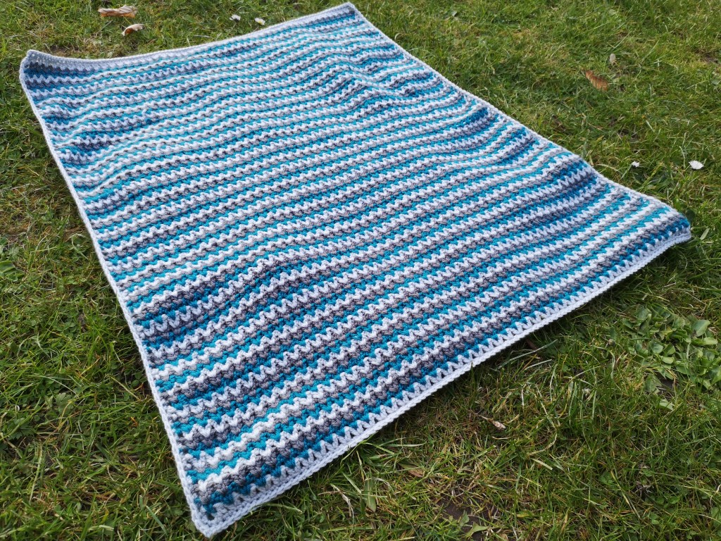 crochet baby blanket - the finished blanket