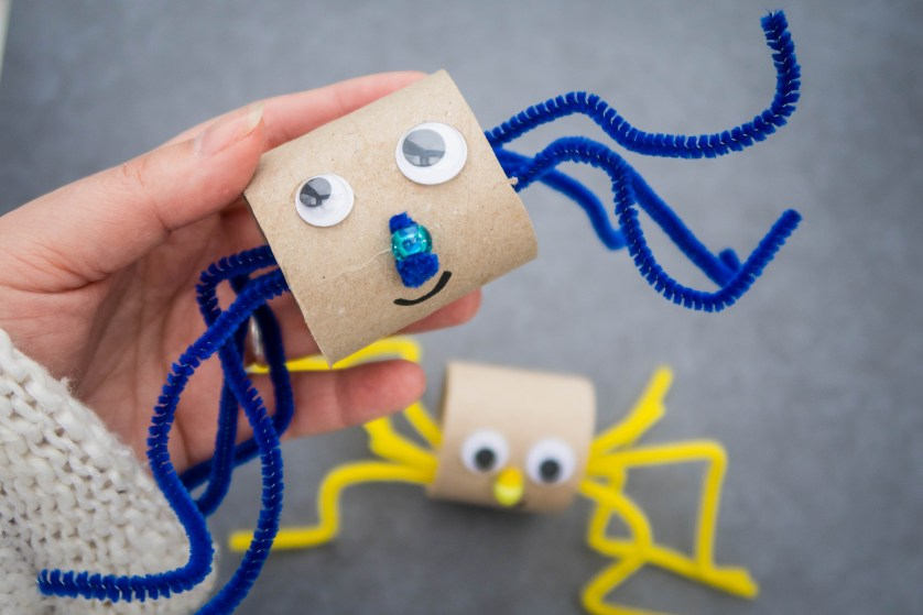 Toilet Roll Spiders