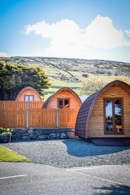 the camping pods at Trawsdir