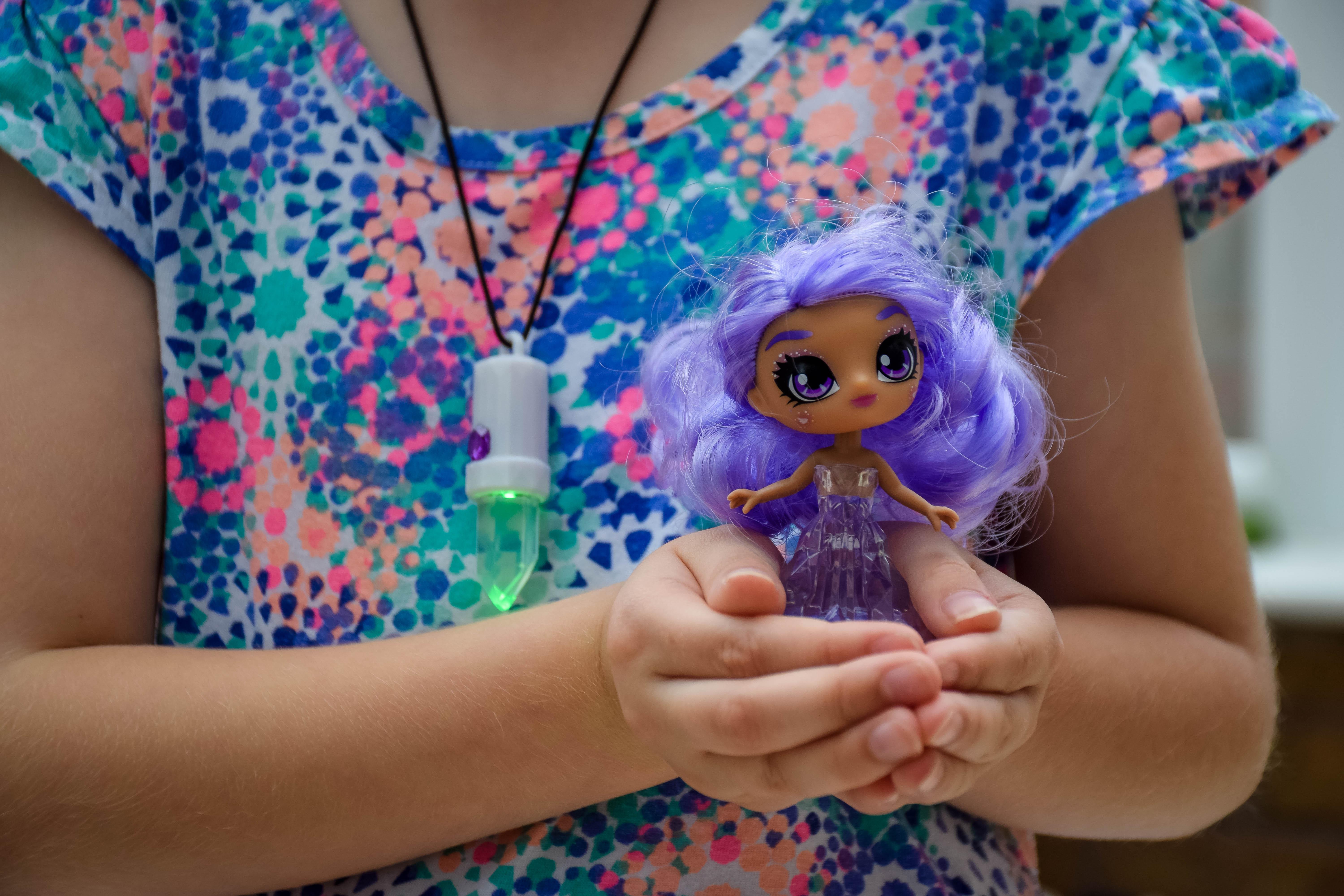 Holding Amethyst, the Crystalina sprite in our hands.
