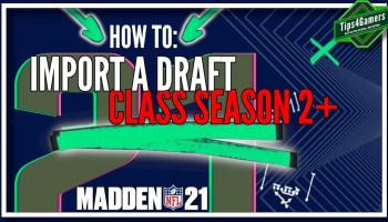 How to Import a Draft Class in Madden 21 Season 2