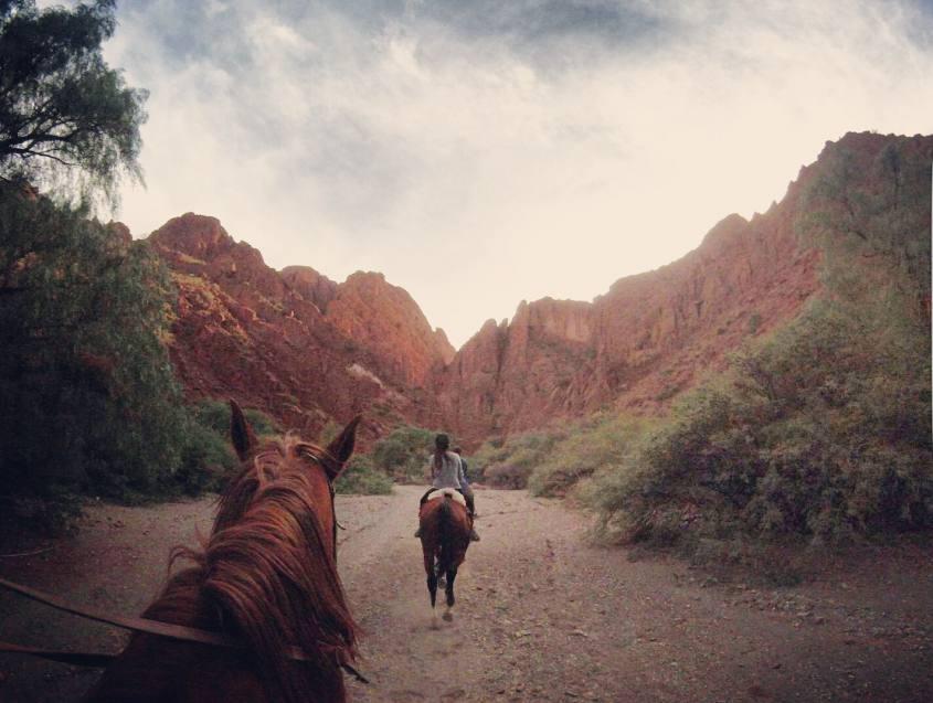 Escursione a cavallo al Canyon dell'Inca a Tupiza in Bolivia