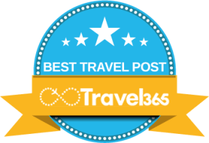 Widget per articolo premiato come Best Travel Post da Travel365