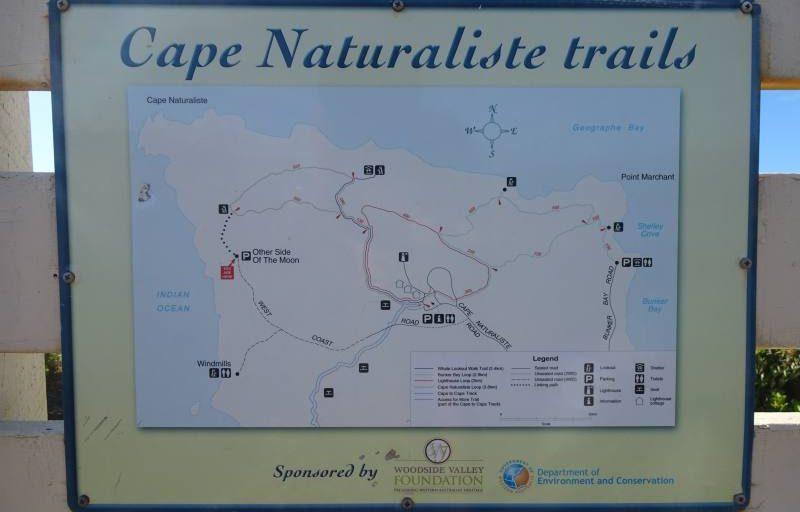 Percorsi a piedi del Cape Naturaliste nella Regione di Margaret River