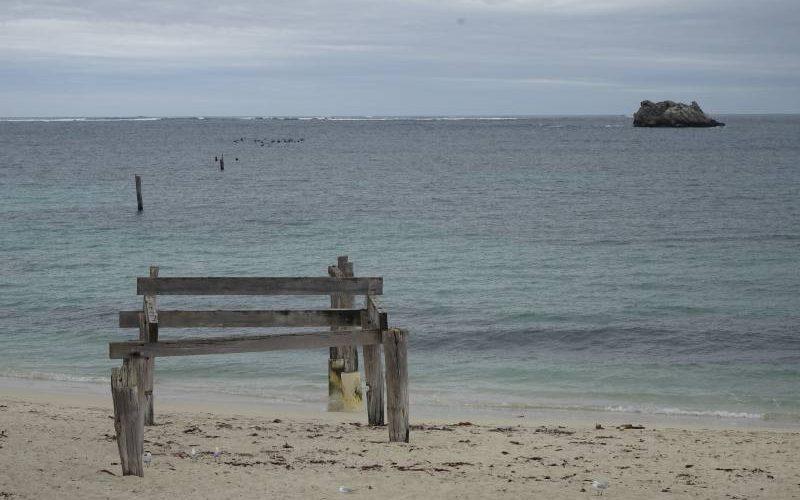 Pontile distrutto di Hamelin Bay Beach a Margaret River