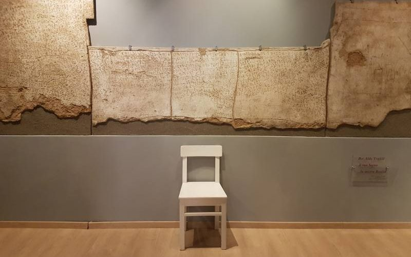 Murales di NOF4 all'interno del Museo dell'Ex Manicomio di Volterra, i catatonici