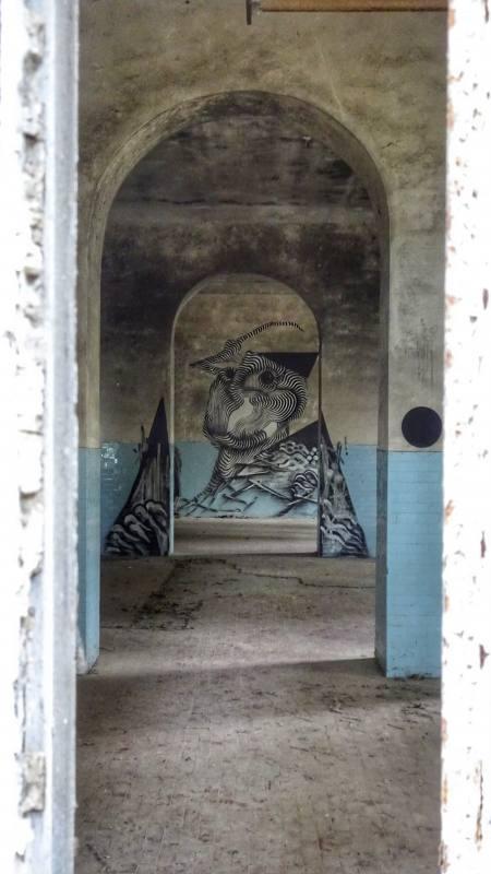 Sala degli aranci nel Padiglione Charcot dentro l'ex manicomio di Volterra