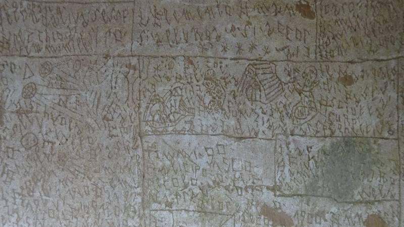Murales di NOF4 nel cortile del Padiglione Ferri dell'Ex Manicomio di Volterra