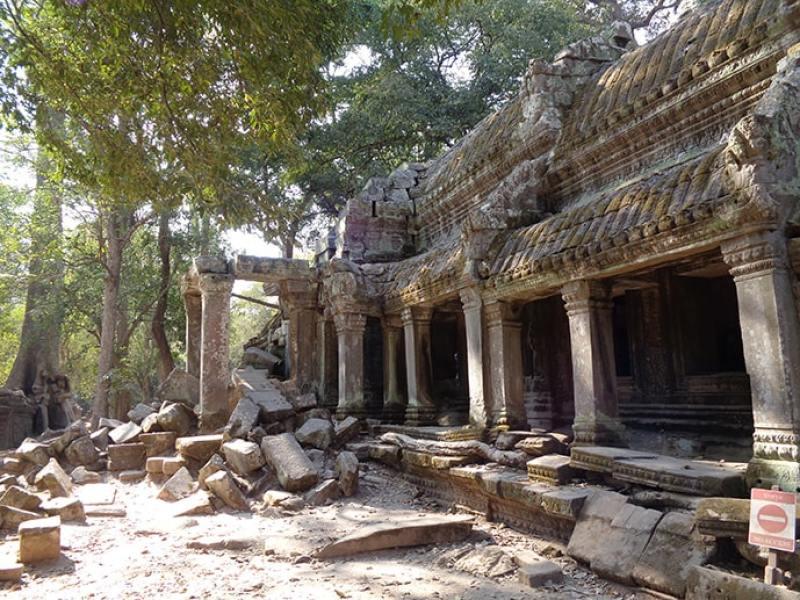 Rovine dei Templi di Angkor in Cambogia