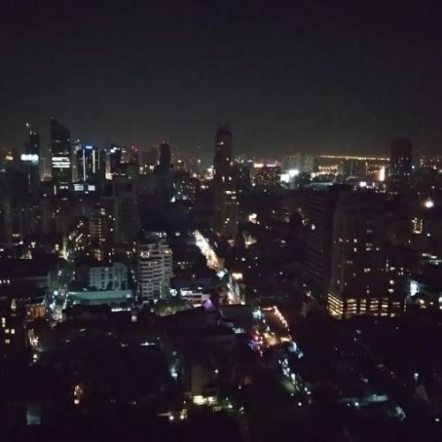 Bangkok vista dall'alto di notte