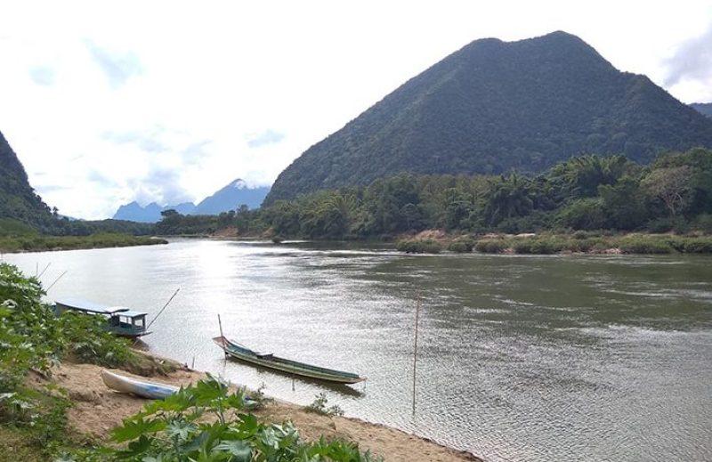 Paesaggio di Muang Goi Neua in Laos