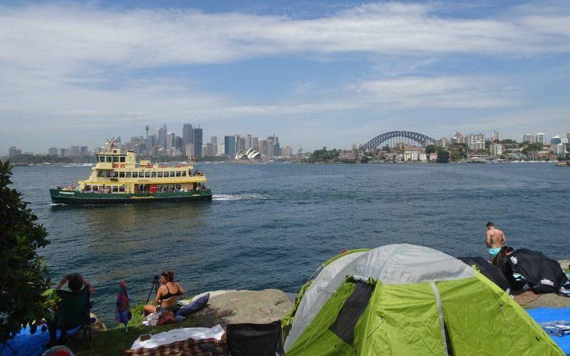 Aspettando il Capodanno di Sydney dal parco di Cremorne Point