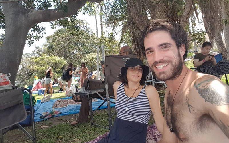 Selfie al parco di Cremorne Point aspettando il Capodanno di Sydney