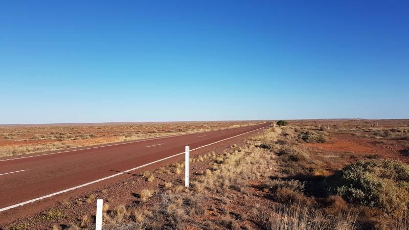 Panorama della Stuart Highway in South Australia