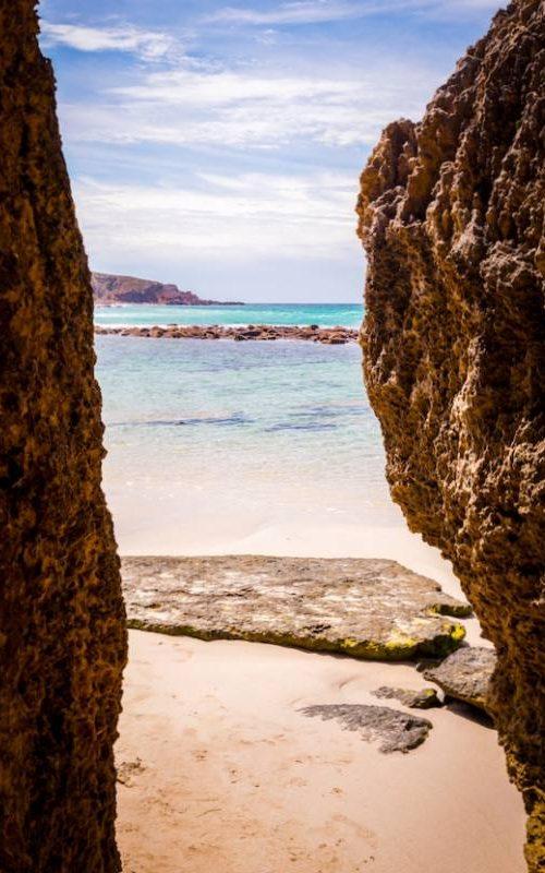 Piscina naturale nascosta di Stokes Bay Beach a Kangaroo Island