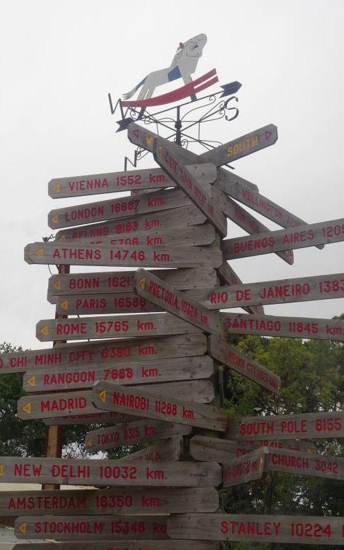 Cartelli segnaletici delle distanze tra il Toy Factory di Adelaide e le città del mondo